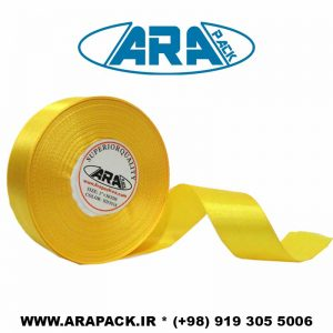 روبان ساتن 2.5 سانتیمتر زرد